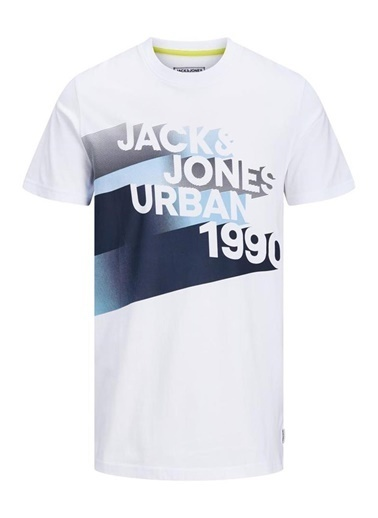 Jack & Jones JCOLOGO-UNIVERSE TEE SS CREW  NECK CAMP 12172273WhiteXXL                 Beyaz